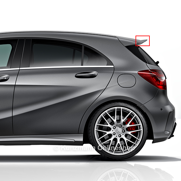 a45 amg facelift heckspoilerlippe dachspoiler w176 a. Black Bedroom Furniture Sets. Home Design Ideas