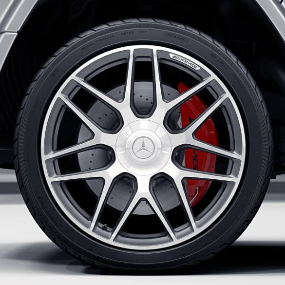 63 AMG 22 inch rim set G-Class W463 cross-spoke-wheel titanium grey genuine Mercedes-Benz
