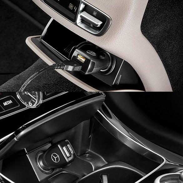 Usb power charger mit geschenkverpackung schwarz original for Mercedes benz usb