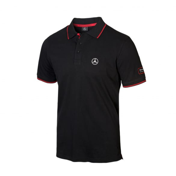 Poloshirt Herren Actros schwarz Original Mercedes-Benz Collection