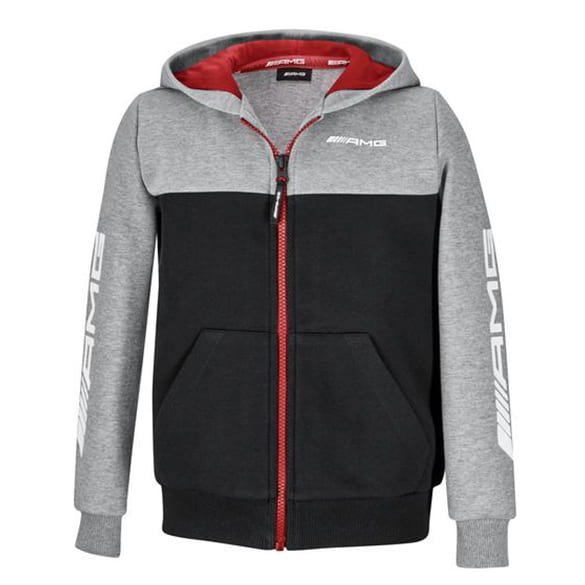 AMG Sweatjacke Kinder grau / schwarz Original Mercedes-AMG Collection
