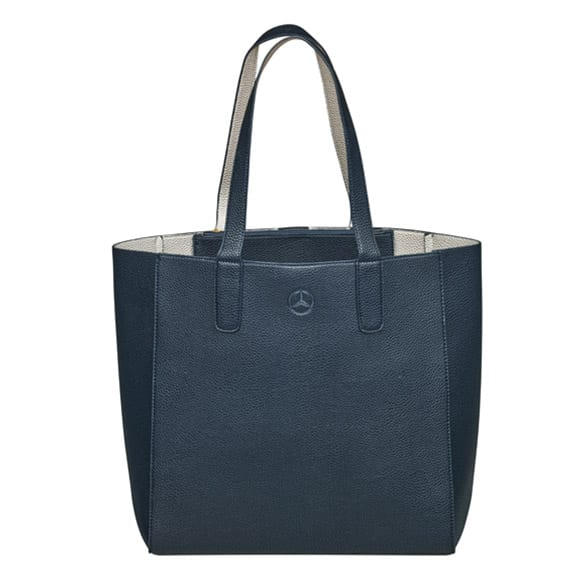 Shopper Damen Tasche blau silber Original Mercedes-Benz Collection