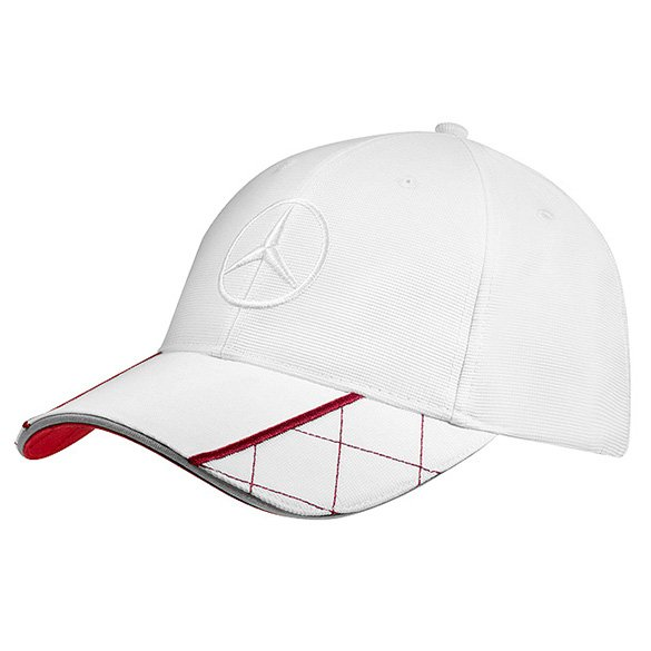 Cap young men white with highlight in red genuine mercedes for Mercedes benz caps hats