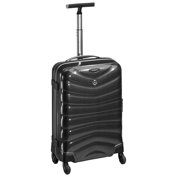 samsonite suitcase charcoal firelite spinner 55 curv genuine mercedes benz. Black Bedroom Furniture Sets. Home Design Ideas
