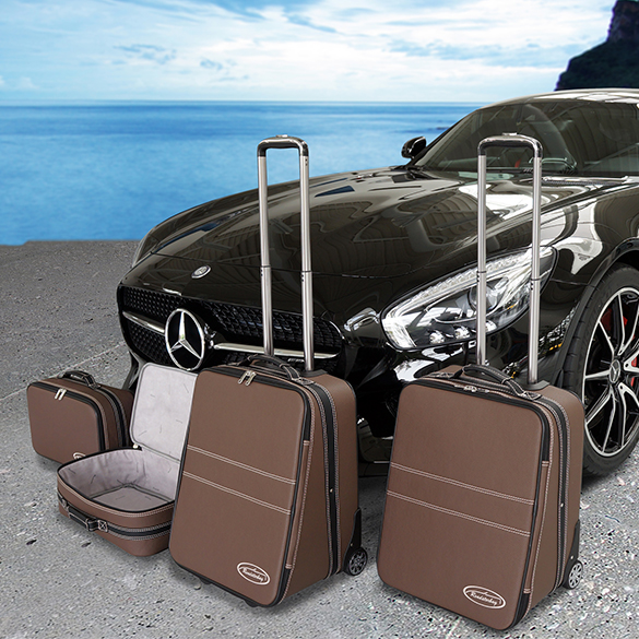 koffer set mokka 4tlg amg gt c190 original roadsterbag. Black Bedroom Furniture Sets. Home Design Ideas