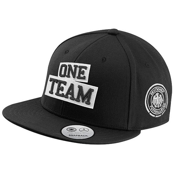 One team snapback cap black with dfb eagle genuine for Mercedes benz caps hats