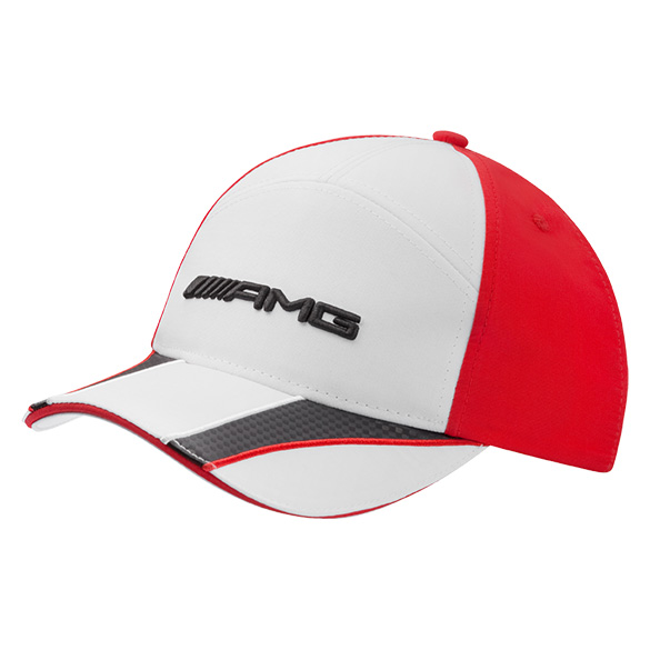 Amg cap kids white red genuine mercedes benz for Mercedes benz caps hats