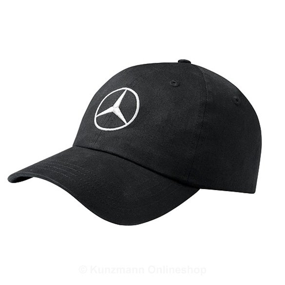 Baseball cap black genuine mercedes benz for Mercedes benz caps hats