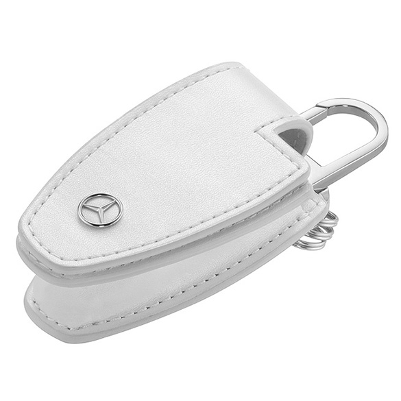 Key wallet for vehicle key leather diamond white mercedes for Mercedes benz wallet