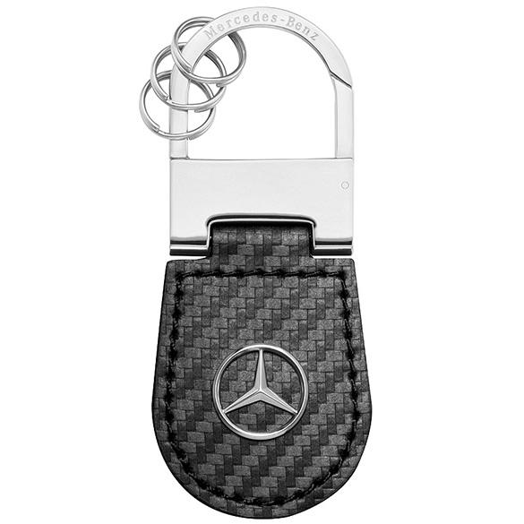 Mercedes benz key ring shanghai carbon leather original for Mercedes benz key rings for sale