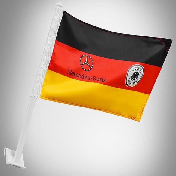 Germany Car Flag Dfb Amp Mercedes Benz Logo Original
