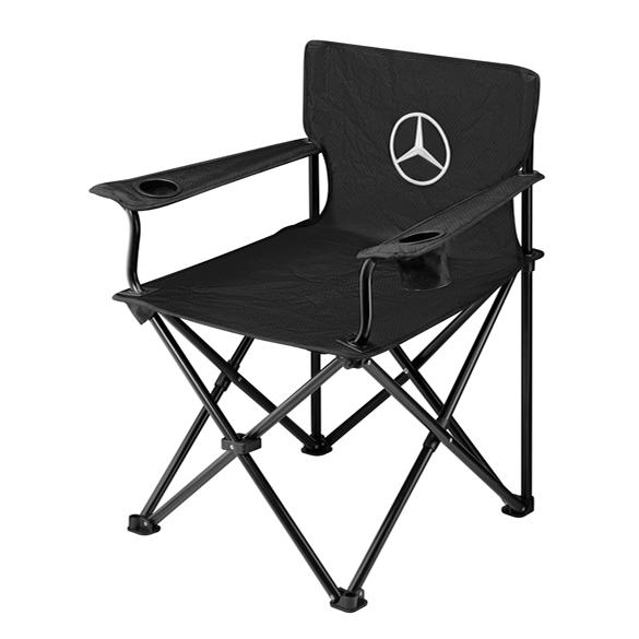 faltstuhl campingstuhl original mercedes benz schwarz. Black Bedroom Furniture Sets. Home Design Ideas