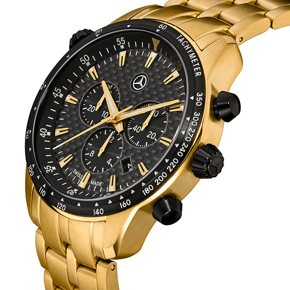 motorsport chrono edition gold armbanduhr chronograph original mercedes benz neu ebay. Black Bedroom Furniture Sets. Home Design Ideas