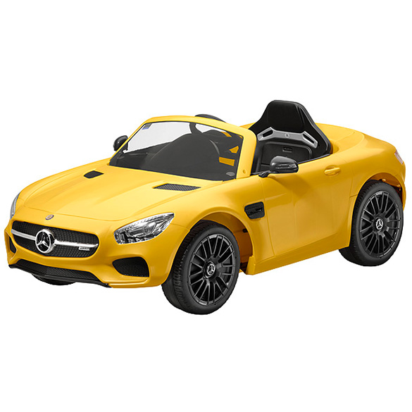 AMG GT S electric vehicle with LED solarbeam yellow genuine Mercedes-Benz Collection