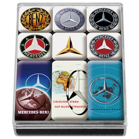 Der Klassiker Mercedes Stern Anstecknadel Badge silber