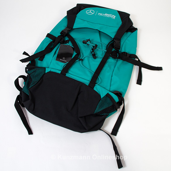Backpack petronas green mercedes amg petronas original for Mercedes benz backpack