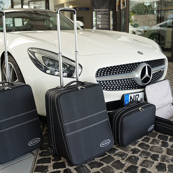 Suitcase-set black 4 pieces AMG GT C190 Genuine Roadsterbag