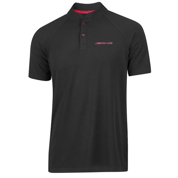 AMG men polo shirt black & red genuine Mercedes-AMG Collection