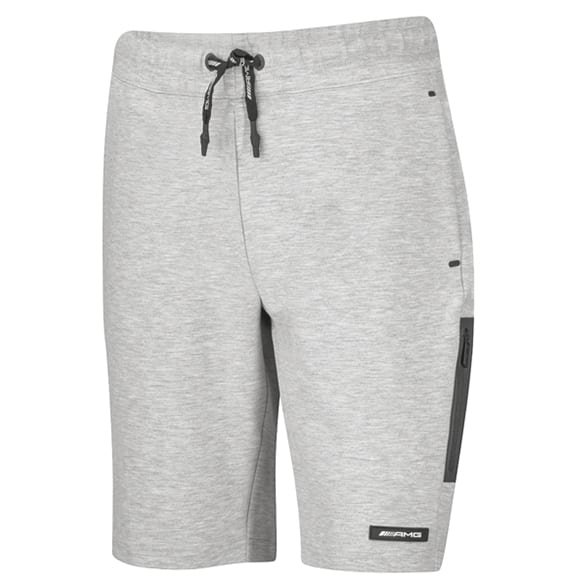 AMG sweat shorts men gray melange genuine Mercedes-AMG Collection