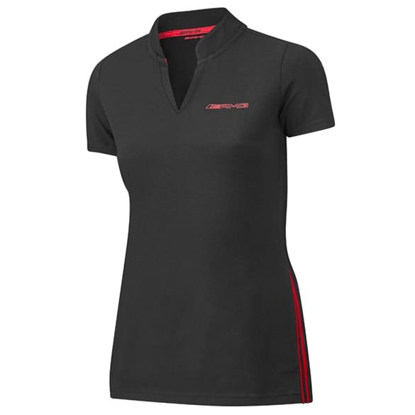 AMG women polo shirt black & red genuine Mercedes-AMG Collection