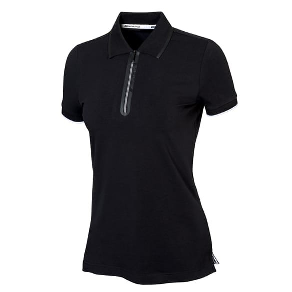 AMG women polo shirt black & white genuine Mercedes-AMG Collection