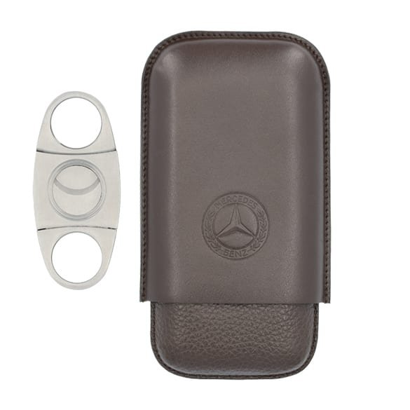 Cigar case made of genuine leather from the Mercedes-Benz Collection