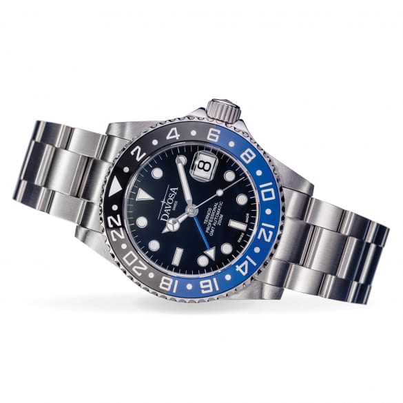 DAVOSA Ternos Professional TT GMT watch 42mm Automatic black / blue