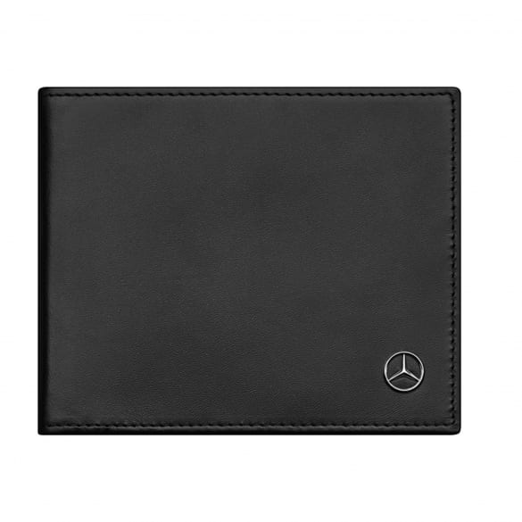 Purse black made from genuine Mercedes-Benz Collection calf leather