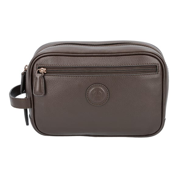 Toiletry bag made of genuine leather from the Mercedes-Benz Collection