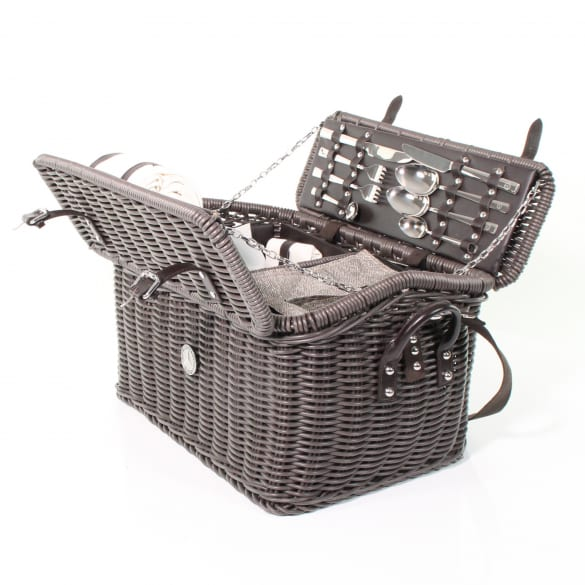 Picnic basket dark brown genuine Mercedes-Benz Collection