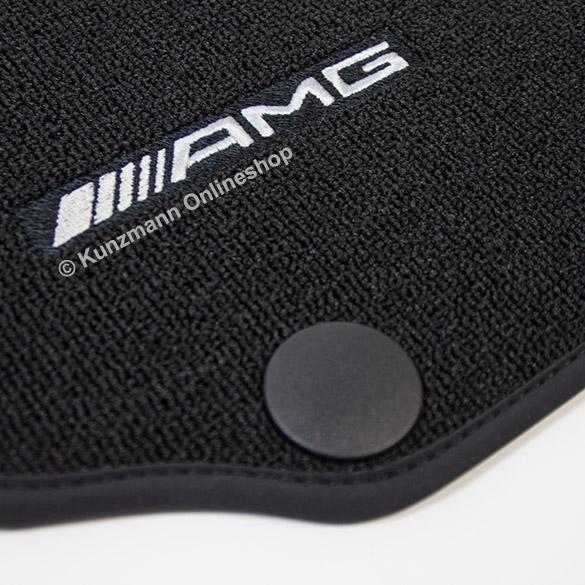 AMG floor mats Mercedes C-Class W204 in black verlours