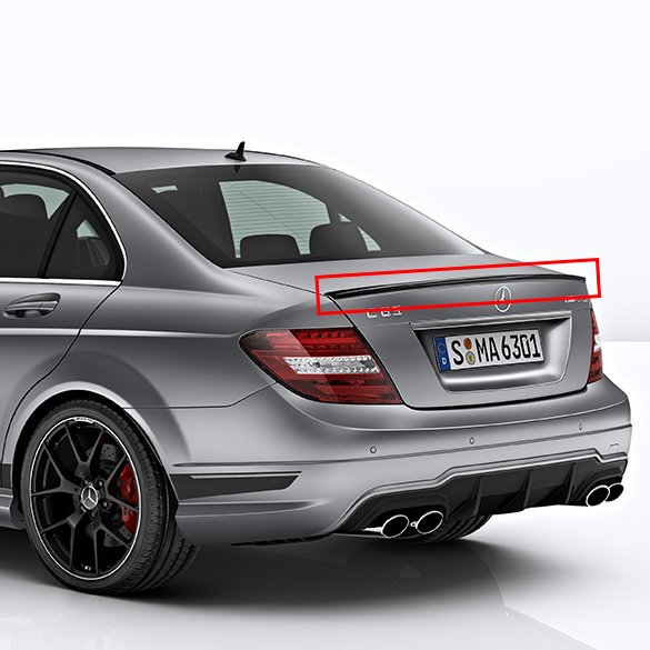 amg rear spoiler lip c class w204 original mercedes benz. Black Bedroom Furniture Sets. Home Design Ideas