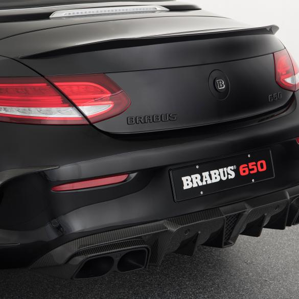 brabus carbon rear spoiler coupe mercedes benz c class. Black Bedroom Furniture Sets. Home Design Ideas