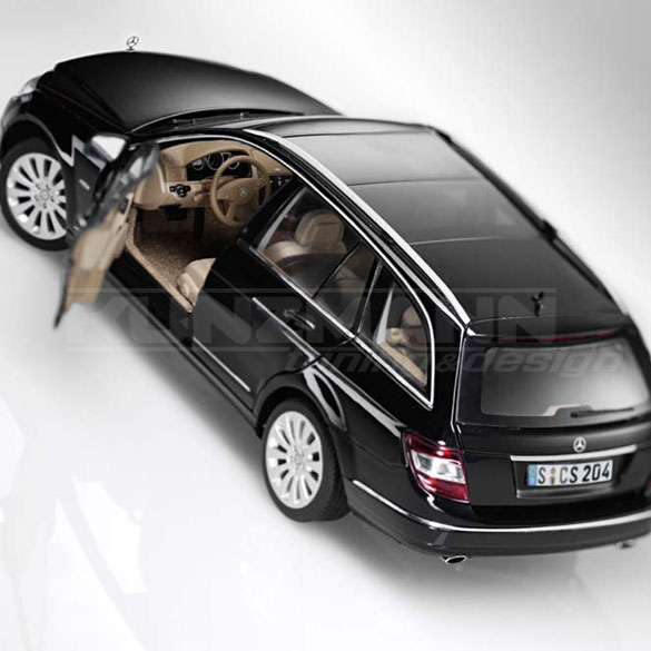 modellauto autoart mercedes benz c klasse t modell w204 1 18 obsidianschwarz ebay. Black Bedroom Furniture Sets. Home Design Ideas