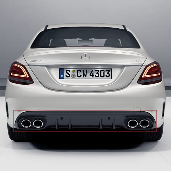 C43 Amg Sedan >> C43 Amg Facelift Diffusor C Class 205 Sedan Estate Without Nightpackage Without Towing Hitch