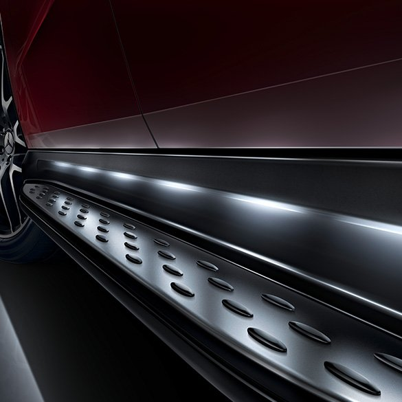 Running boards illuminated GLE Coupé C292 Original Merecdes-Benz
