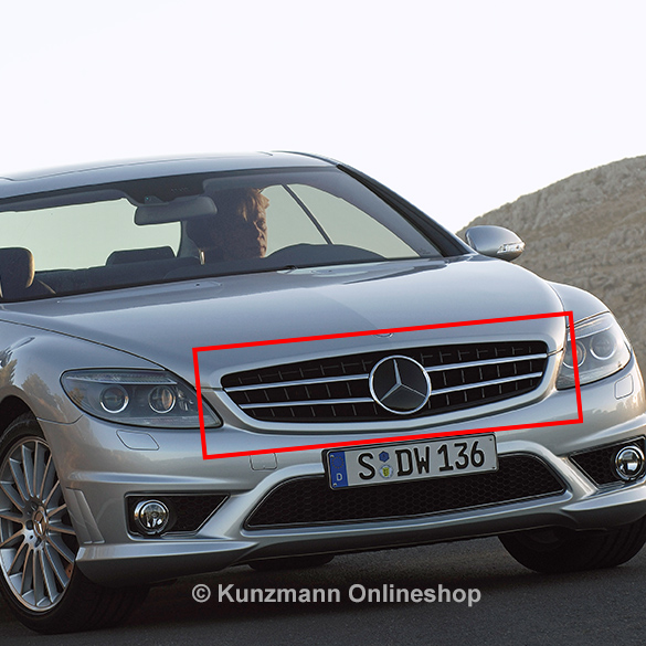 Cl 63 amg grille cl w216 genuine mercedes benz for Mercedes benz grille