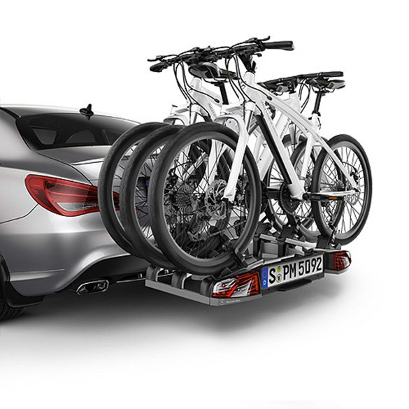 Rear bicycle carrier rack for towing for 3 bikes folding for Mercedes benz folding bike