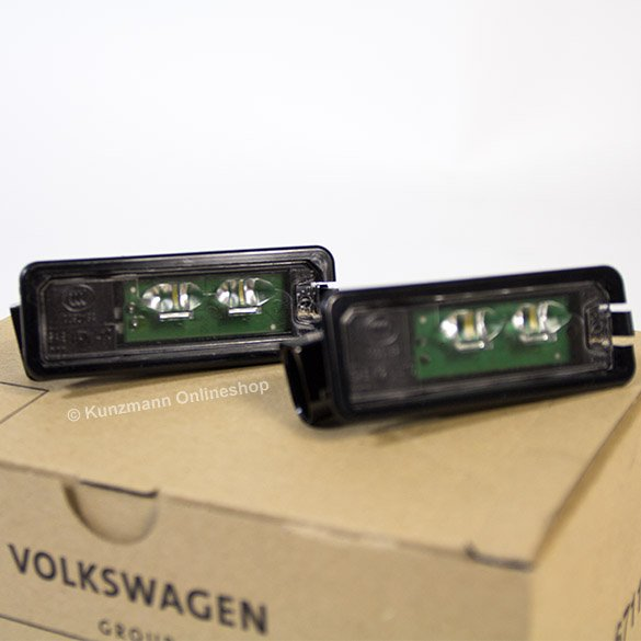 Genuine Volkswagen LED license plate lighting Volkswagen Golf 7 VII