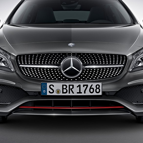 a 250 sport facelift front grill with red trim a class w176 original mercedes benz. Black Bedroom Furniture Sets. Home Design Ideas