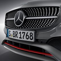 A 250 Sport facelift front grill with red trim A-Class W176 original Mercedes-Benz