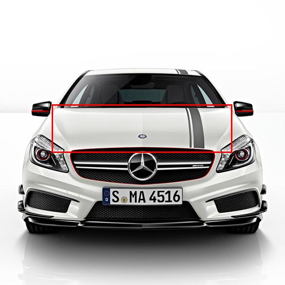 Edition 1 zierstreifen foliensatz motorhaube a klasse for Mercedes benz original