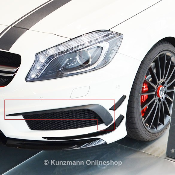original a 45 amg spoiler flaps frontspoiler a klasse w176. Black Bedroom Furniture Sets. Home Design Ideas