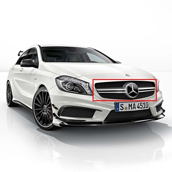 a45 amg radiator grille a class w176 original mercedes. Black Bedroom Furniture Sets. Home Design Ideas