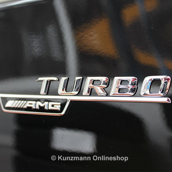A45 AMG Turbo logo set A-Class W176 genuine Mercedes-Benz
