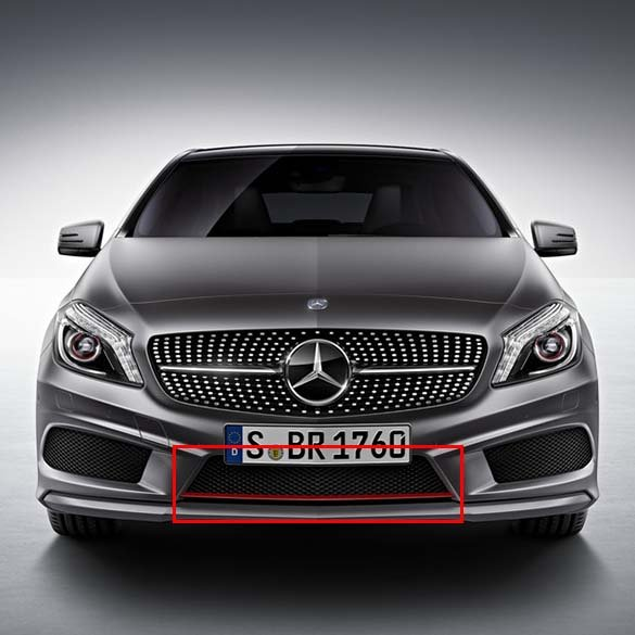 A 250 Sport AMG front grill with red trim A-Class W176 genuine Mercedes-Benz