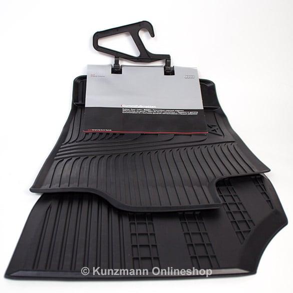 Car Rubber Floor Mats Front Audi A1 Black 2 Pieces Original Audi