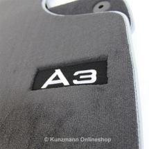 Premium Velor Floor Mats With Logo A3 Genuine Audi A3 8p