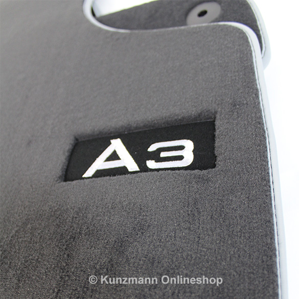 Premium Velor Floor Mats With Logo A3 Genuine Audi A3 8p
