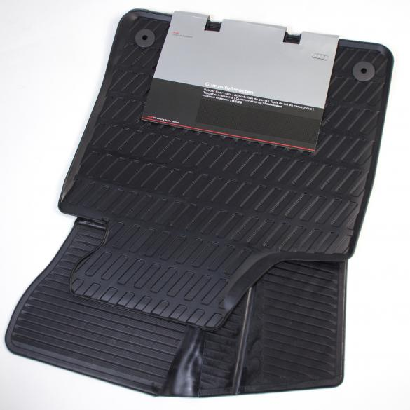 Audi A3 8P car rubber floor mats original black